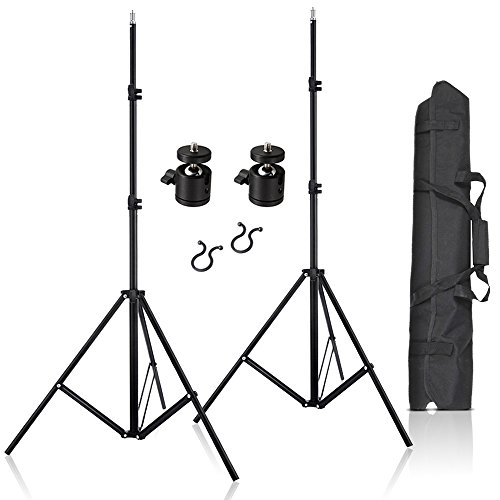 Selens 2 Pcs 80 Inch Adjustable Aluminium Alloy Stands With 1/4'' Mount Ball Head and Carrying Bag For VIVE VR by Selens