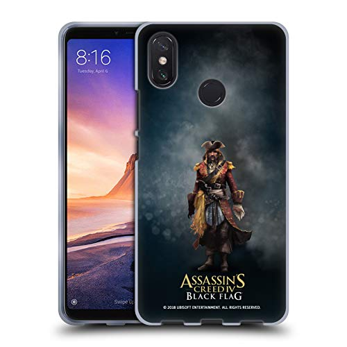 Official Assassin's Creed Bartholomew Roberts Black Flag Characters Soft Gel Case for Xiaomi Mi Max 3