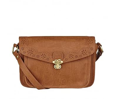 cf269e17023 Womens Nica Alicia Tan Brown Small Satchel Handbag: Amazon.co.uk: Shoes &  Bags
