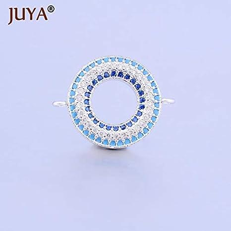 Laliva Jewelry Making Accessories Multicolor Zircon Rhinestone Round Circle  Pendant connectors Charms for DIY Bracelet Necklace 6ec8dc4f07e6