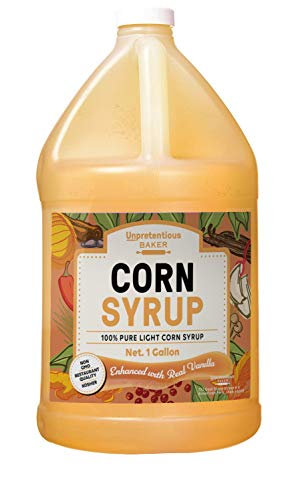 Corn Syrup, 1 Gallon Jug, by Unpretentious Baker, Light Syrup with Real Vanilla, Gluten Free, Kosher, Natural, Sugar Substitute, Jug with Twist Off Cap