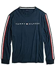 Tommy Hilfiger Men's Adaptive Long Sleeve T Shirt with Velcro Brand at Shoulders
