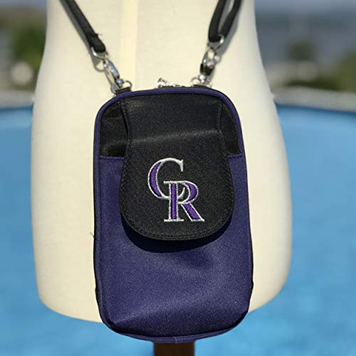 MLB Colorado Rockies Crossbody Cell Phone Purse XL