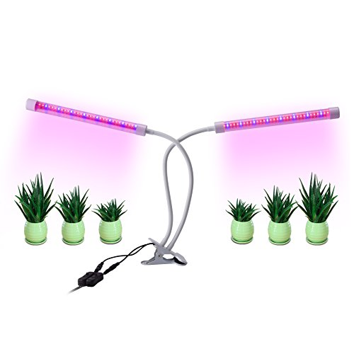 18W Dual Head Led Plant Grow Lights Indoor,Full Spectrum 64 Led Plant Grow Bulb with Adjustable Flexible 360 Degree Gooseneck for Indoor Plants Hydroponics Greenhouse Garden For Sale