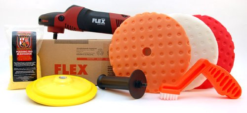 FLEX PE14-2-150 Rotary Polisher Starter Kit by Flexcut