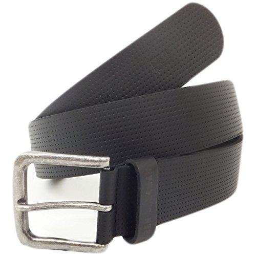 Mens Belts Ben Sherman Dotted Leather Belt Black (Ben Leather Belt)