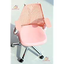 1/6 Barbie blythe Pink Swivel Chair Toy Office Chair Dollhouse Miniature Furniture
