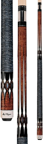 - Players G-2252 Graphic Umber Birds-Eye Maple with Imitation Mother of Pearl and White Diamonds Cue, 18-Ounce