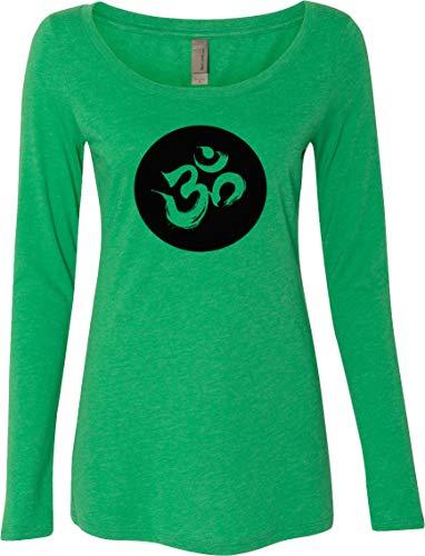 Aum Circle Womens Lightweight Long Sleeve Yoga Tee Shirt, Envy ()