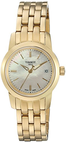 (Tissot Women's 'Classic Drean' Swiss Quartz and Gold-Tone-Stainless-Steel Watch, Color: (Model: T0332103311100) )