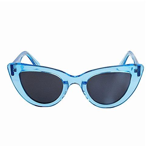 1b2de57387f94 Peggy Gu Color transparente único pequeño gato ojos mujer gafas de sol  polarizadas marco de fibra
