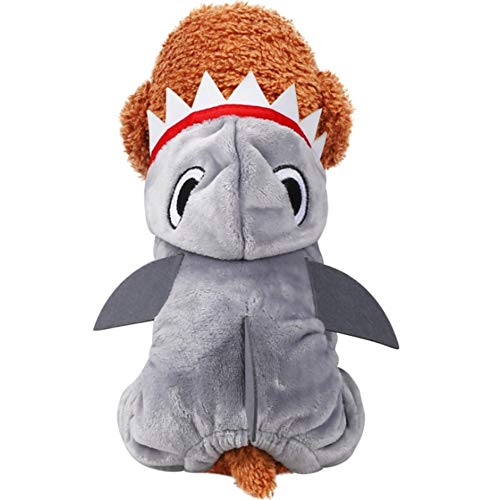 Stock Show Pet Costume Dog Cat Halloween Cute Funny Shark Costume Pet Fall Winter Thicken Coral Velvet Four Legs Clothes Outfit Apparel Costume Accessory for Small Medium Dogs Puppy -