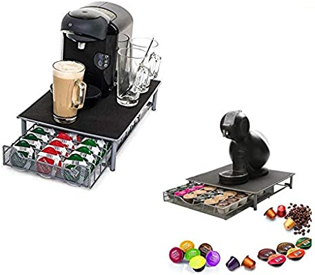 Top Home Solutions - Soporte para cafetera y cápsulas con cajón de ...