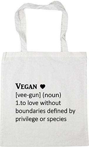 Bag love x38cm boundaries litres Gym White noun Tote HippoWarehouse gun without vee Definition 10 by 1 Vegan species privilege defined Beach Shopping or To 42cm qx1CwH