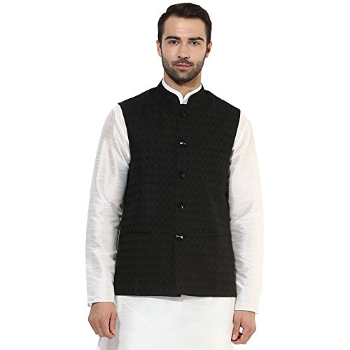 KISAH Men's Indian Woven Cotton Silk Nehru Jacket 40 for sale  Delivered anywhere in USA
