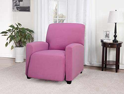 Madison Stretch Jersey Recliner Slipcover, Large, Solid, - Pink Recliner