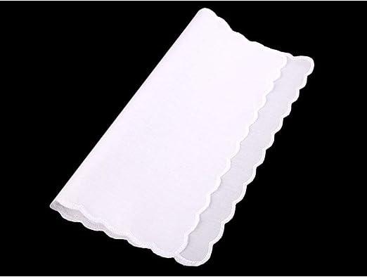 1pc de Algodón Blanco Pañuelo de Bolsillo, Pañuelos, Accesorios de Moda, 24 cm: Amazon.es: Hogar