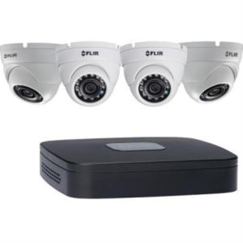 FLIR 4-Channel, 4 PoE Full HD NVR with 2TB HDD and 4 4MP IP Dome Cameras with 2.8mm Lens