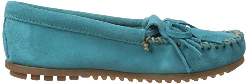 Minnetonka Womens Kilty Camoscio Turchese Mocassino