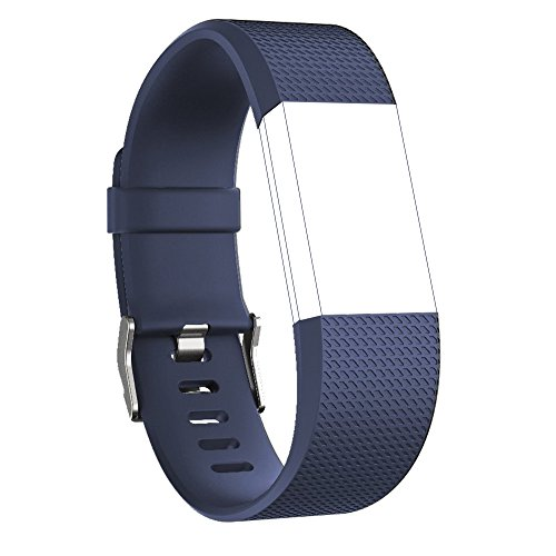 Fitbit Charge 2 Replacement Elastomer Bands, RedTa…