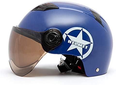 KKmoon Casco de Moto Abierto Ajustable con Visera Casco de