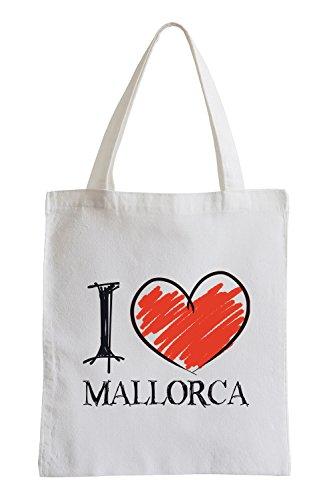 Amo Mallorca Fun sacchetto di iuta
