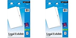 Avery Legal Index Dividers, Legal Size, Side Tabs, 1-25 and Table of Contents, 1 Set (11371), 2 Packs