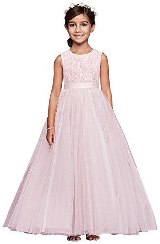 David's Bridal Flower Girl/Communion Ball Gown Flower Girl/Communion Dress with Heart. by David's Bridal