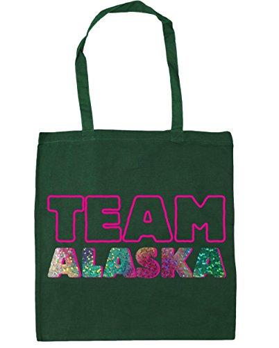 HippoWarehouse equipo Alaska Tote Compras Bolsa de playa 42cm x38cm, 10litros verde oscuro