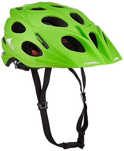 Catlike Leaf Bike Helmet with Visor, Green, ()