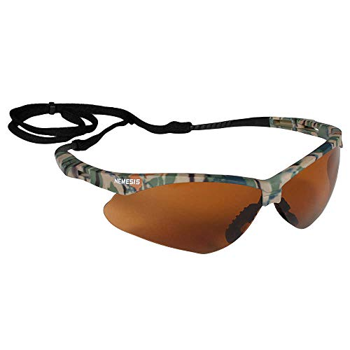 Jackson Safety V30 Nemesis Safety Glasses (19644), Bronze Lenses with Camo Frame, 12 Pairs / Case
