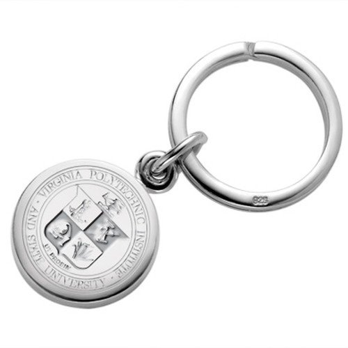 Virginia Tech Sterling Silver Insignia Key Ring by M. LaHart