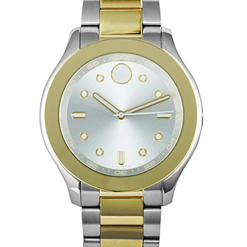 Movado Women's Swiss-Quartz Watch with Two-Tone-Stainless-Steel Strap, 19 (Model: 3600418