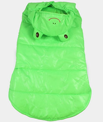 Zunea Dog Costume Dog Winter Coat Frog Prince Costume Hooded Medium Dog Halloween Costume 5XL