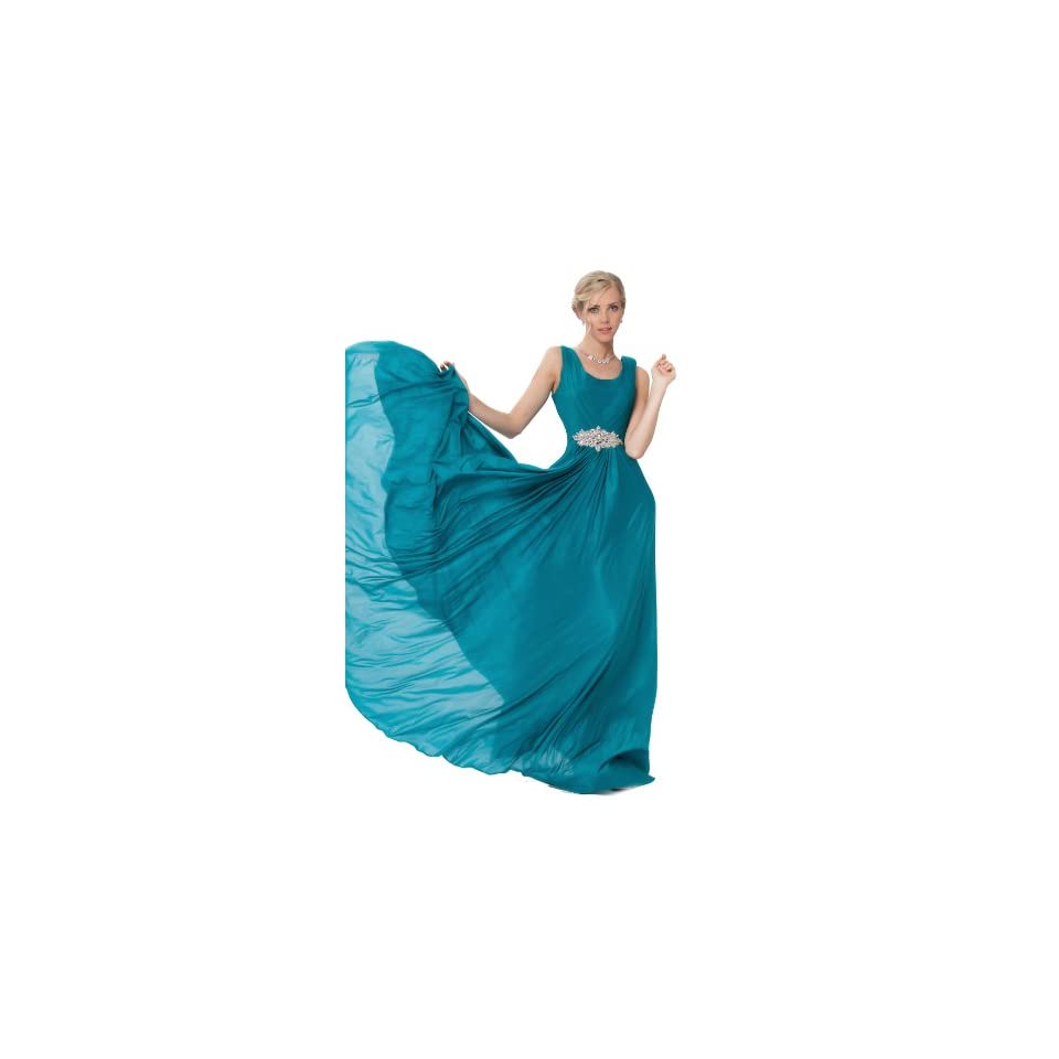 Sexyher WomenS A Line Pleated Full Length Bridesmaid Dress Us16 Teal