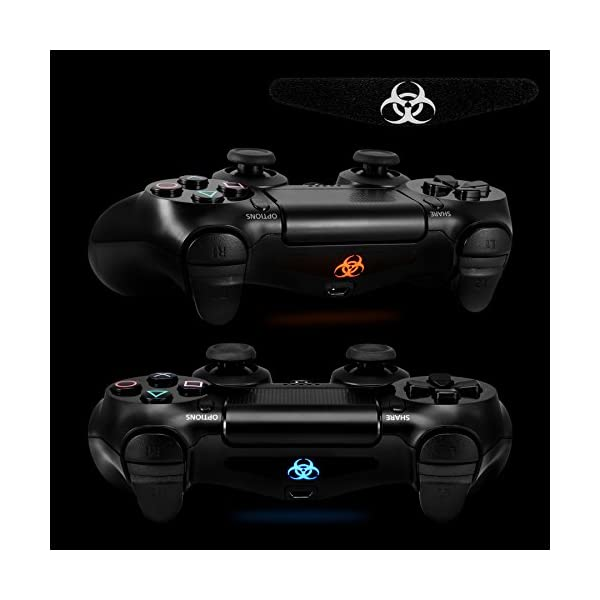 eXtremeRate 30 Pcs/Set Occult Secret of Symbols Signs Led Lightbar Cover Light Bar Decals Stickers Flim for Playstation… 5
