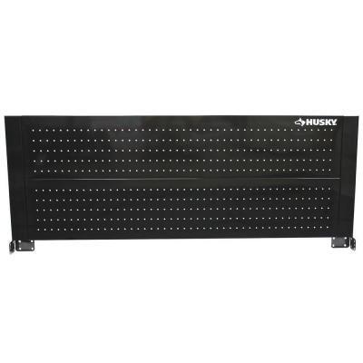 "Husky D6TC09002 52"" Black Heavy-duty 21-gauge Steel Construction Easy to Assemble Tool Cabinet Pegboard"