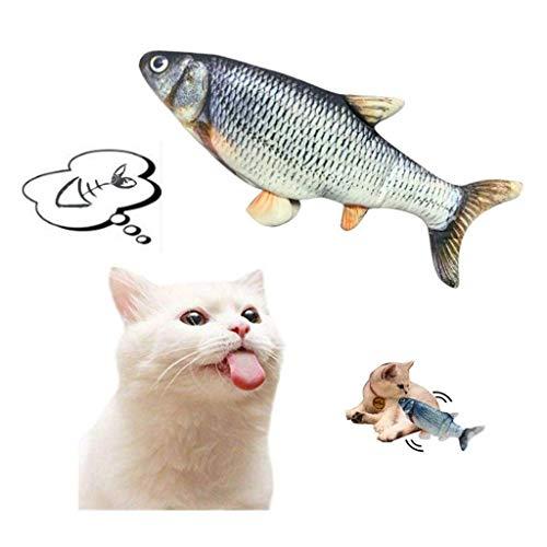 Marvvola Elektrische wedelnde Fische katzenspielzeug elektrische Puppe Fisch Katze wedelt Fisch realistische Plüsch…