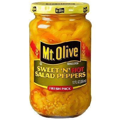 Mt. Olive Sweet 'N' Hot Salad Peppers - 12 oz by Mt. Olive (Best Of Mt Olive)