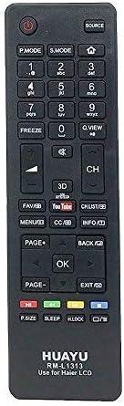 Mando a Distancia para Haier LED//LCD 3D TV Bot/ón Youtube