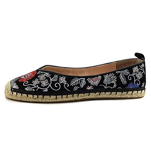 Avec Les Filles Womens Gisella Closed Toe Espadrille, Black/Floral, Size 7.5