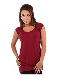 KRISP Women Casual Hip Length V-Neck T-Shirt Tunic Top Haut Tunique Size 4-22