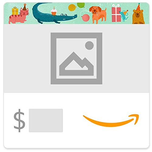 Amazon eGift Card - Upload Your Photo - Birthday Party Animals