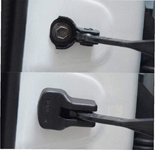 Waymeduo 防水ドアリミッター カバー車両アクセサリーブラック 車のドアストップアーム保護カバー 4個