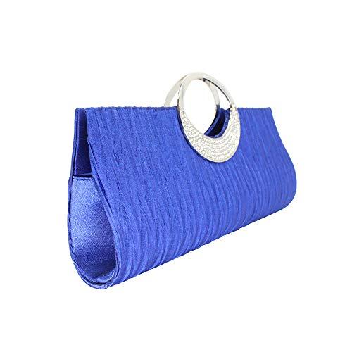 Silver Black Evening Crystal Womens Handbag Wallet Ladies Tskybag Tote Party Diamante White Purse Clutch Bag Dark Blue Bridal Wedding xvxZOFq