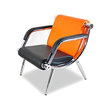 Bestmart INC PU Leather Office Reception Chair Executive Side Waiting Room Visitor Guest Sofa Orange, 1