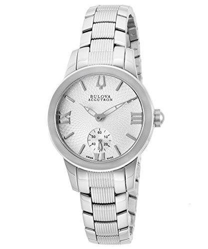 Accutron by Bulova Women's Silver-Tone Steel Silver-Tone Textured Dial