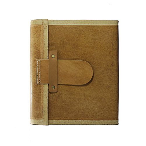 Back To School Gifts 8 x 6 Inch Handmade Genuine Leather Journal Leather Diary Leather Notebook Personal Diary Travel Journal Recipe Book Organizer Do…