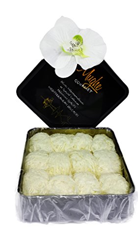 Imported Chocolate Hamper (Mughe Limited Edition Turkish Cotton Candy (12 Fluffs) - Best Confectionery Gift Box - Holiday Gift - Turkish Floss Halva (Pismaniye) in Luxury Gift Box - Freshly Imported from Istanbul Mughe Gourmet)