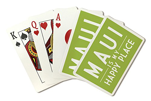 Maui is My Happy Place - Simply Said (Playing Card Deck - 52 Card Poker Size with - Gin Maui